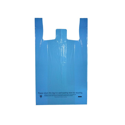 LDPE Blue Recycled T-shirt Bag
