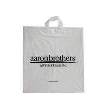 LDPE White Soft Loop Handle Bag
