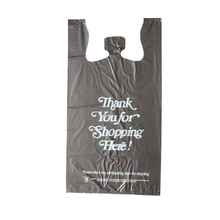 HDPE Black Recycled T-shirt Bag