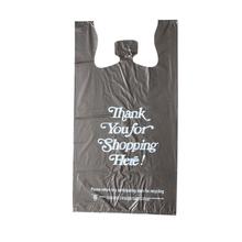 HDPE Black Recycled T-shirt Bag
