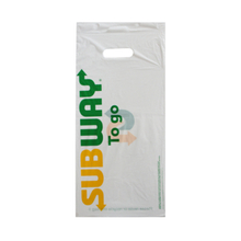 HDPE White Side Sealed Subway Packing Bag
