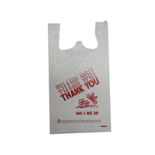 HDPE White Thank You T-shirt Bag