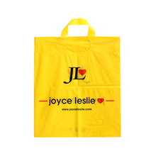 LDPE Yellow Soft Loop Handle Shopping Bag