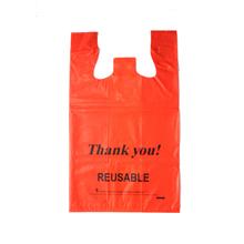 LDPE Red 2.25mil T-shirt Bag