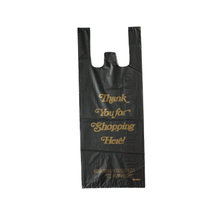 HDPE Black Golden T-Shirt Bag
